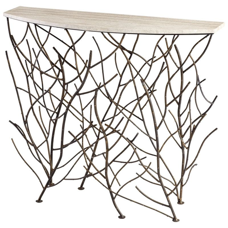 Cyan Design Woodland Console Table Woodland 38 Inch Long Iron and