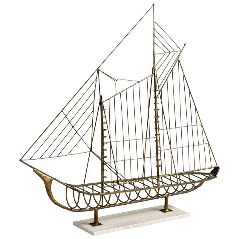 Cyan Design Sail Away Sculpture Sail Away 43.5 Inch Tall Iron