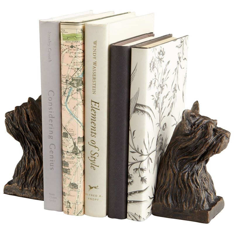Cyan Design Westie Bookends 5.5 Inch Tall Westie Bookends Bronze Home