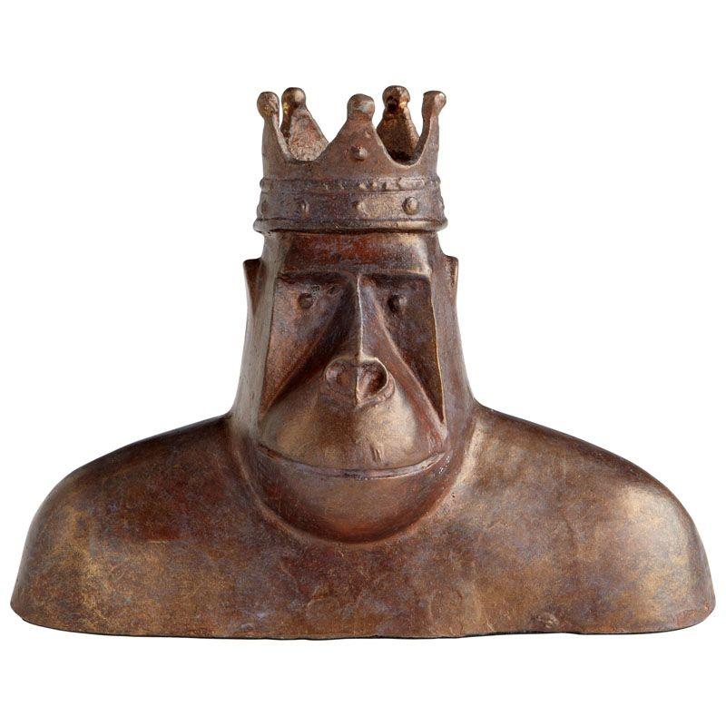Cyan Design King Kercheck Sculpture King Kercheck 5.75 Inch High Iron
