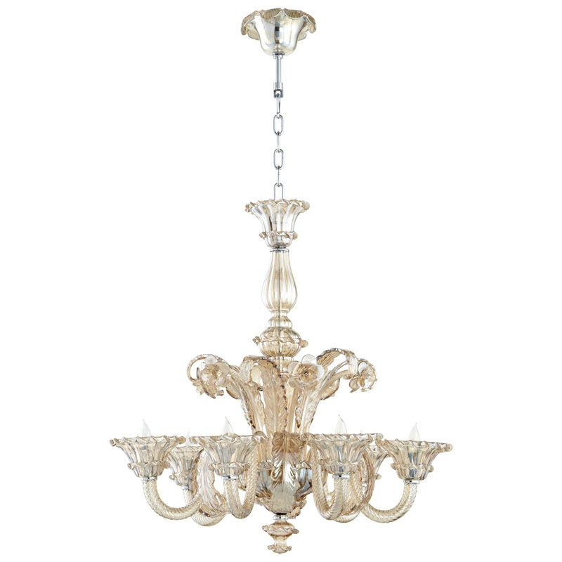 Cyan Design LaScala Six Light Chandelier LaScala 6 Light 1 Tier Shaded