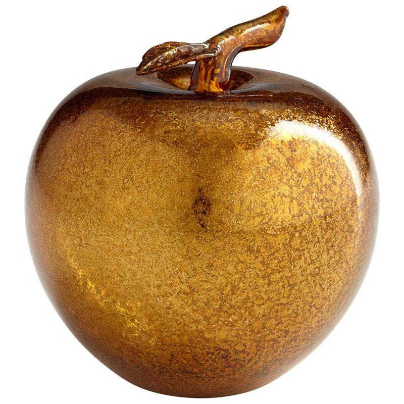 Cyan Design Gold Apple Gold Apple 4.25 Inch Tall Glass Sculpture Gold