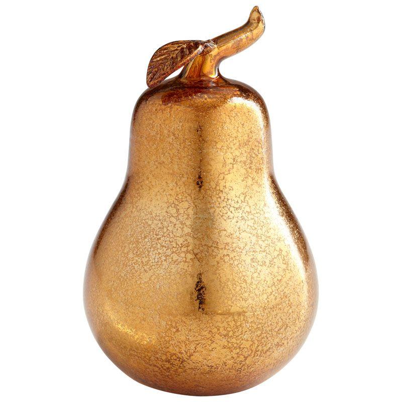 Cyan Design Bronze Pear Bronze Pear 8.5 Inch Tall Glass Sculpture