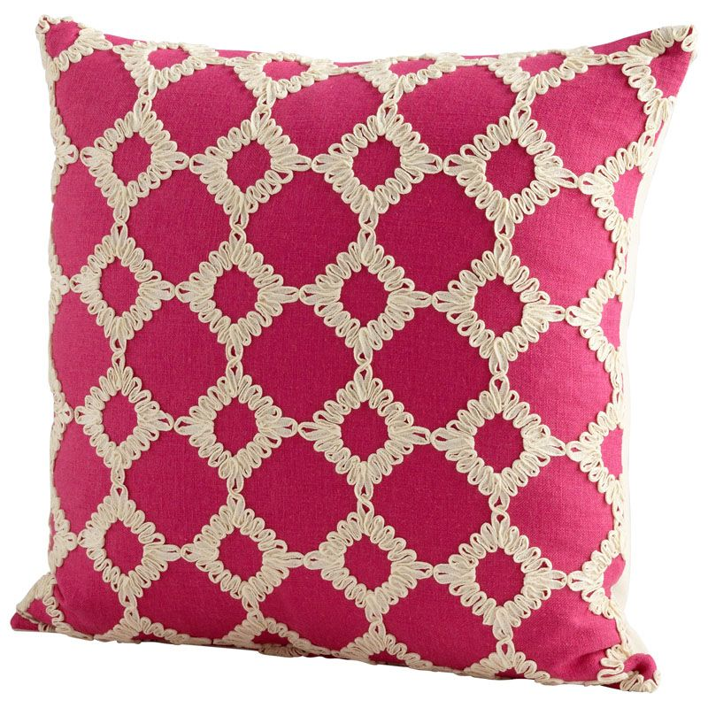 Cyan Design Repeat After Me Pillow Repeat After Me 18 x 18 Square