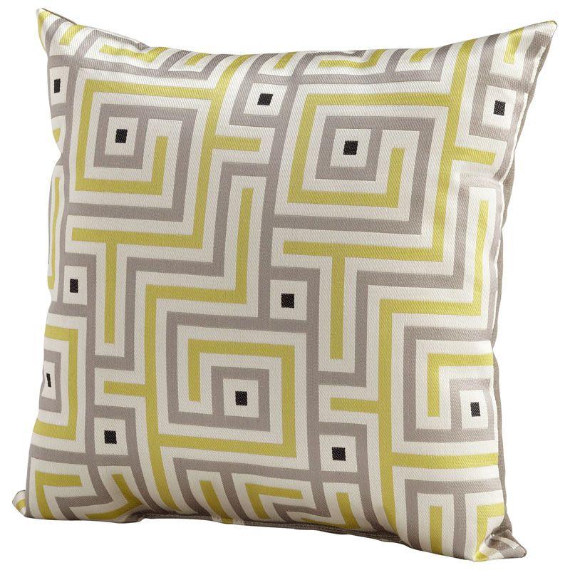 Cyan Design Maze Pillow Maze 18 x 18 Square Pillow Lime Green Home