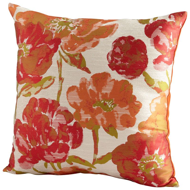 Cyan Design Flower Power Pillow Flower Power 22 x 22 Square Pillow