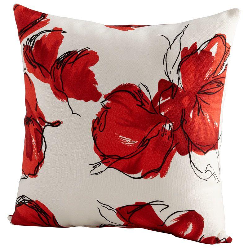 Cyan Design Crimson Petal Pillow Crimson Petal 22 x 22 Square Pillow