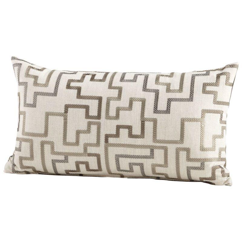 Cyan Design Tetris Pillow Tetris 14 x 24 Rectangular Pillow Silver