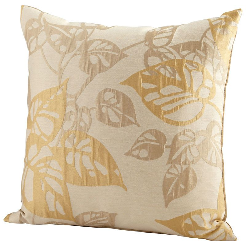 Cyan Design Ecru Oak Pillow Ecru Oak 22 x 22 Square Pillow Gold Home