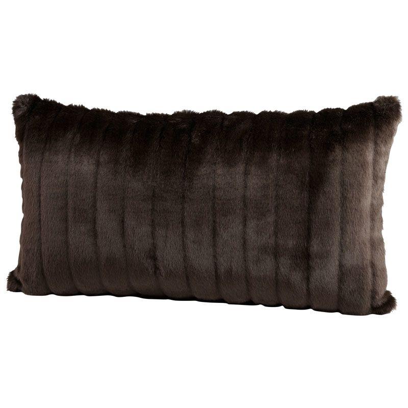 Cyan Design Faux Beaver Pillow Faux Beaver 14 x 24 Rectangular Pillow