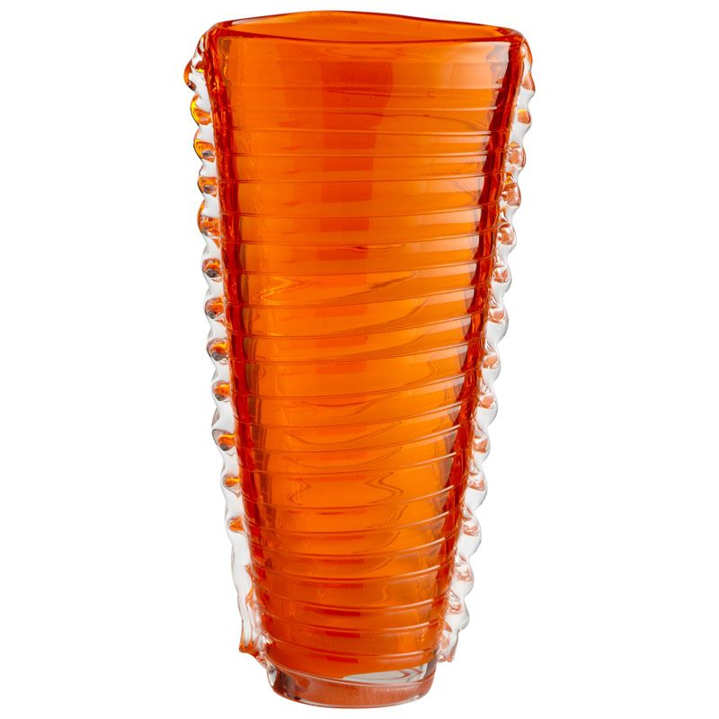 Cyan Design Small Dollie Vase Dollie 11 Inch Tall Glass Vase Orange