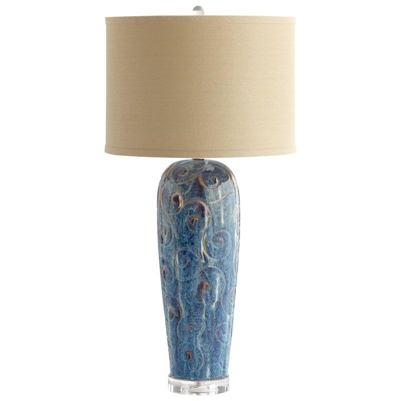 Cyan Design Translation Table Lamp with CFL Bulb Translation 1 Light