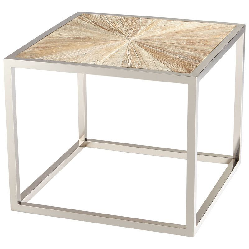 Cyan Design Aspen Side Table Aspen 23.5 Inch Long Stainless Steel and
