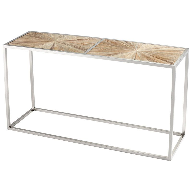 Cyan Design Aspen Console Table Aspen 63 Inch Long Stainless Steel and