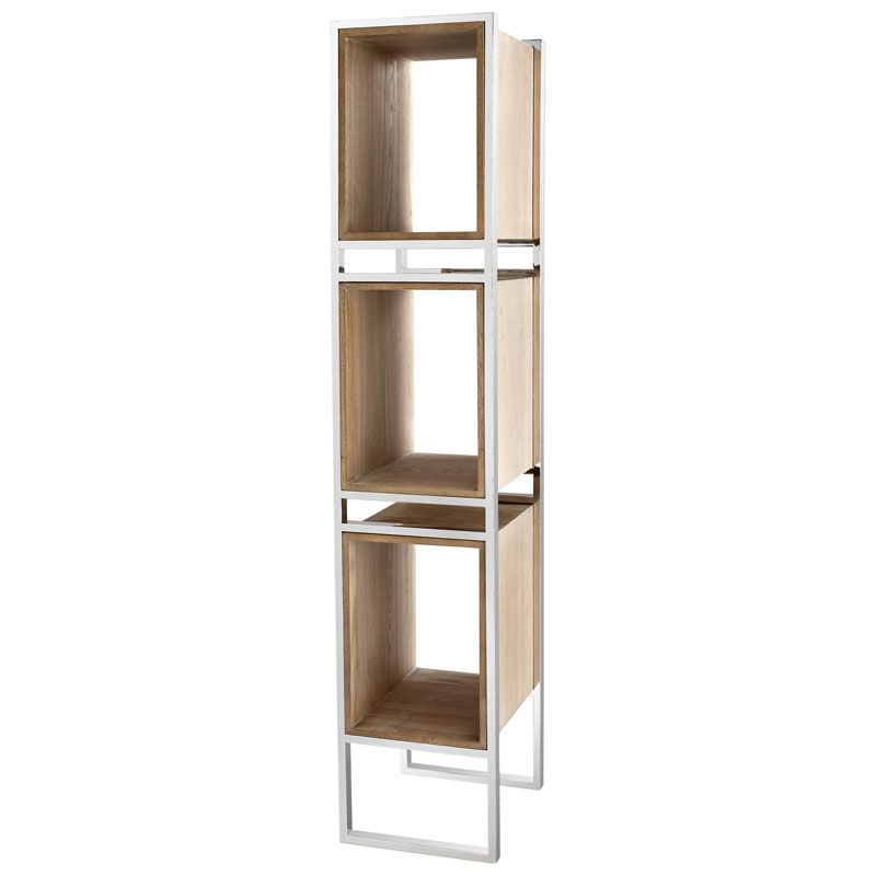 Cyan Design Pueblo Book Shelf Pueblo 78.5 Inch Tall Stainless Steel
