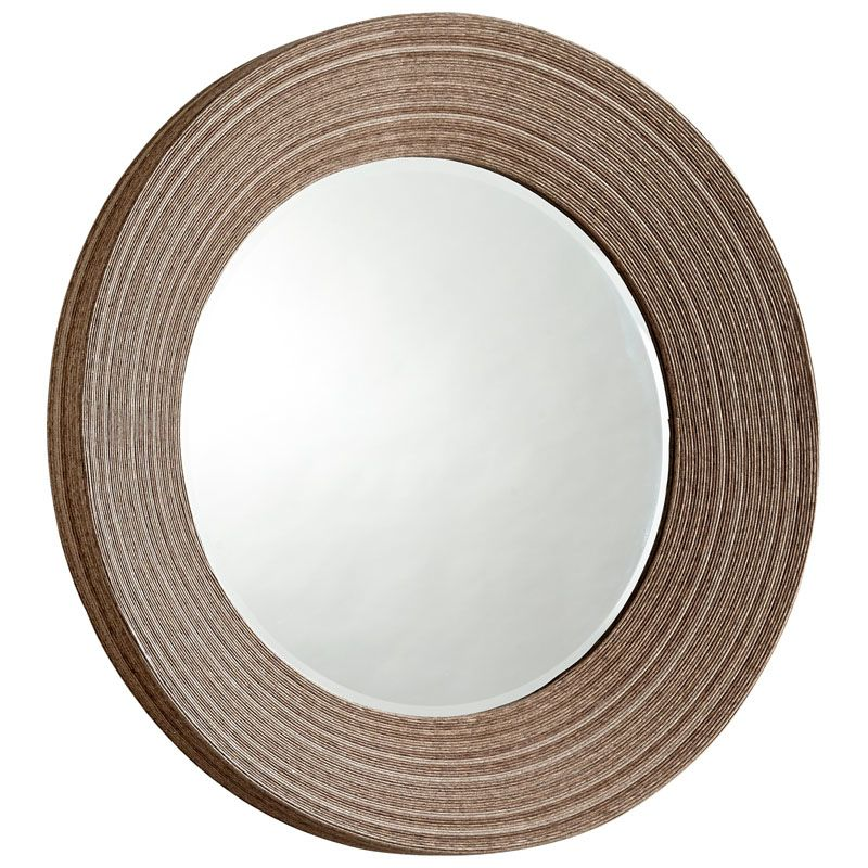 Cyan Design Lucas Mirror 7 Inch Diameter Lucas Wood Mirror Ebony Home