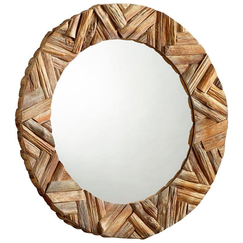 Cyan Design Haverford Mirror 7 Inch Diameter Haverford Wood Mirror