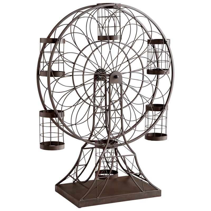 Cyan Design Ferris Wheel Wine Holder Ferris Wheel 34.25 Inch Tall Iron