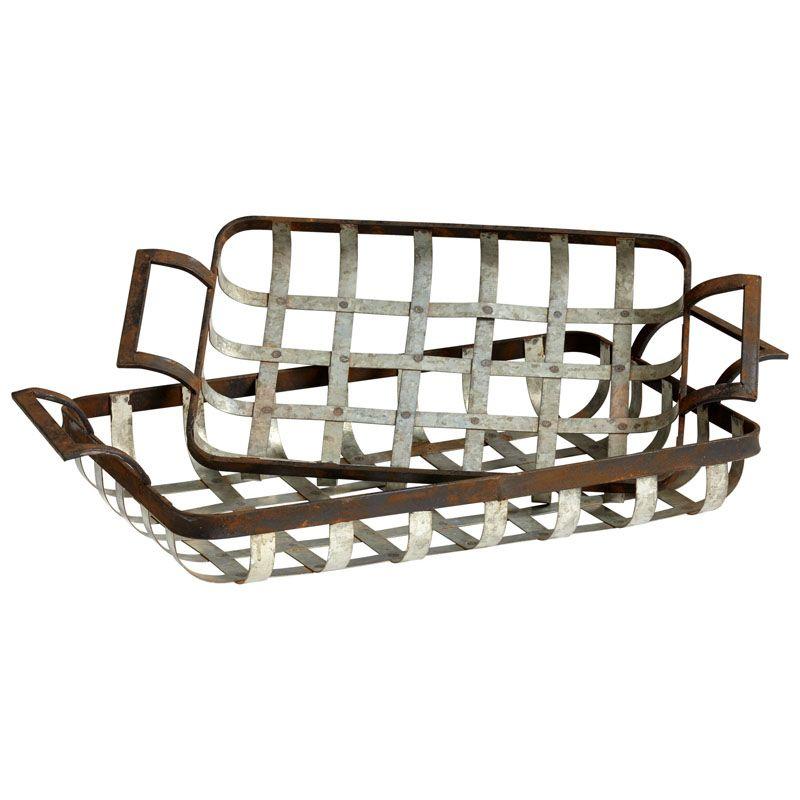 Cyan Design Waffle Trays Waffles Iron Trays (Set of 2) Rustic Ash Home