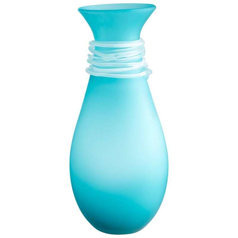 Cyan Design Medium Alpine Vase Alpine 17.25 Inch Tall Glass Vase Blue