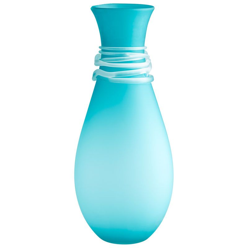 Cyan Design Large Alpine Vase Alpine 21.75 Inch Tall Glass Vase Blue