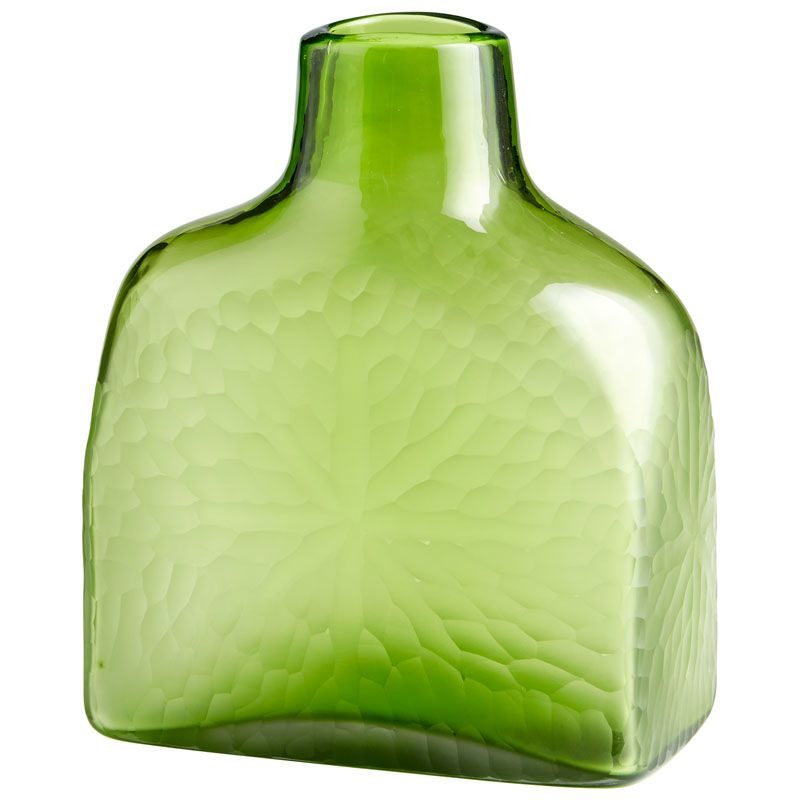 Cyan Design Small Marine Green Vase Marine Green 11.25 Inch Tall Glass