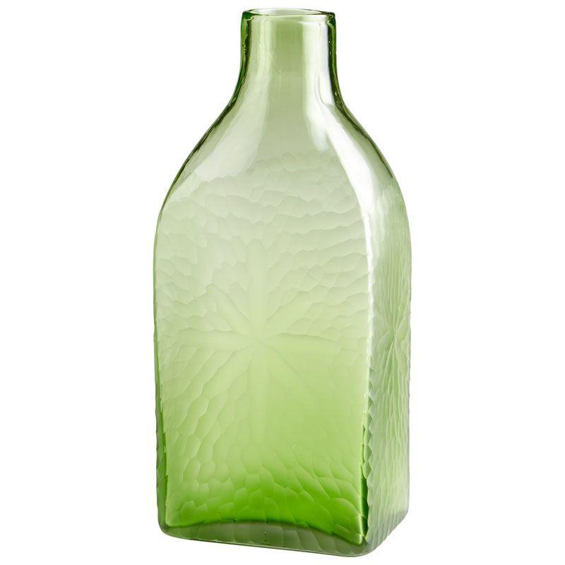 Cyan Design Large Marine Green Vase Marine Green 14.5 Inch Tall Glass