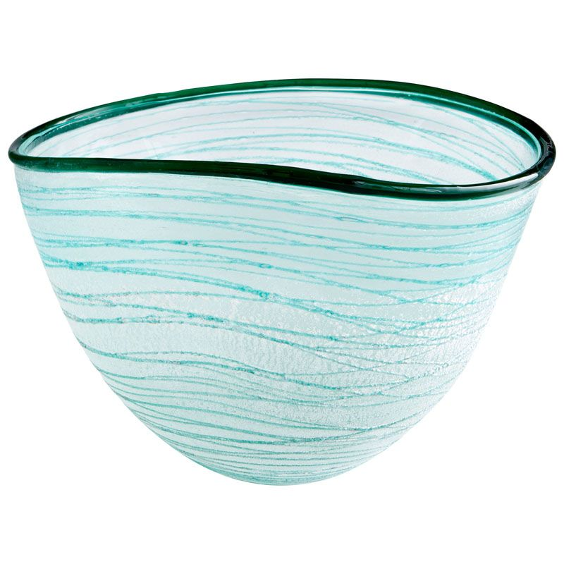 Cyan Design Small Swirly Bowl Swirly 8 Inch Wide Glass Decorative Bowl
