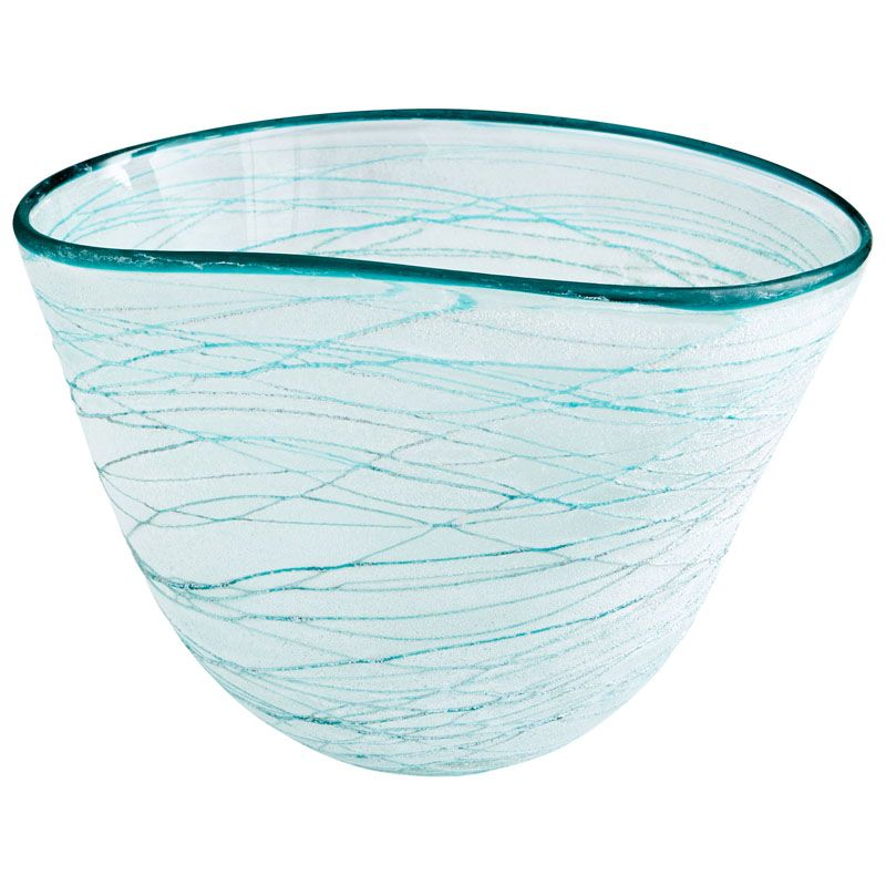 Cyan Design Large Swirly Bowl Swirly 10.5 Inch Wide Glass Decorative