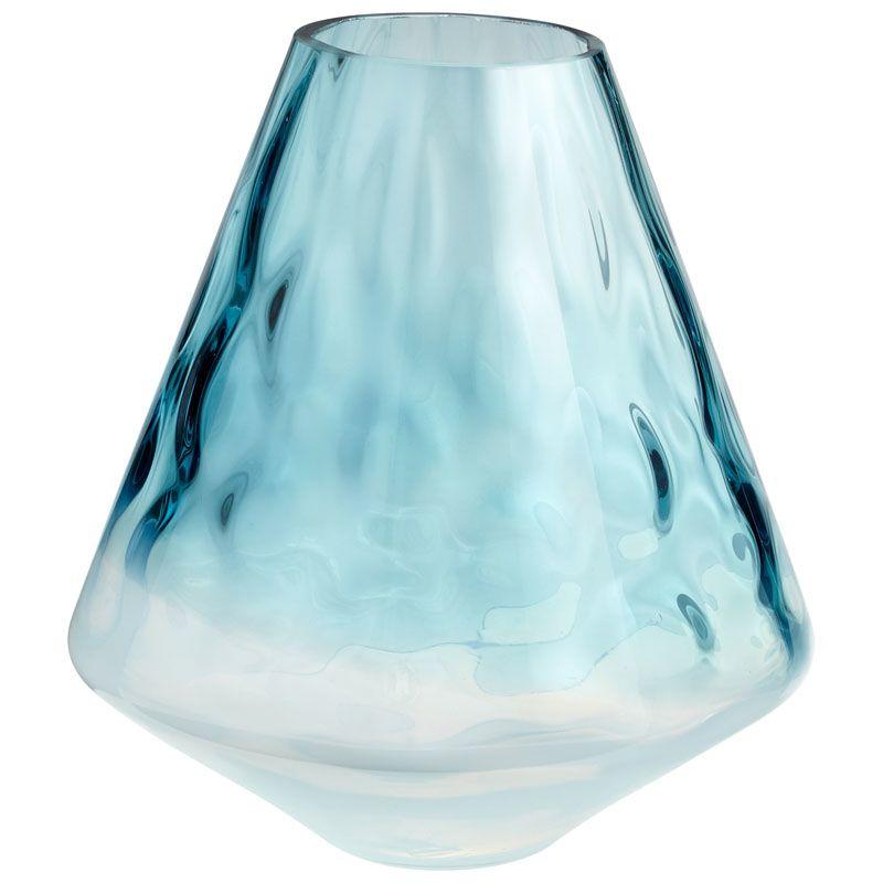 Cyan Design Small Brisk Vase Brisk 11 Inch Tall Glass Vase Blue /