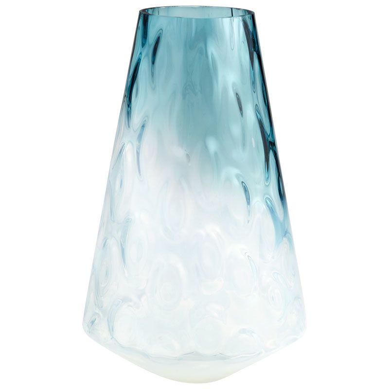 Cyan Design Large Brisk Vase Brisk 15.25 Inch Tall Glass Vase Blue /