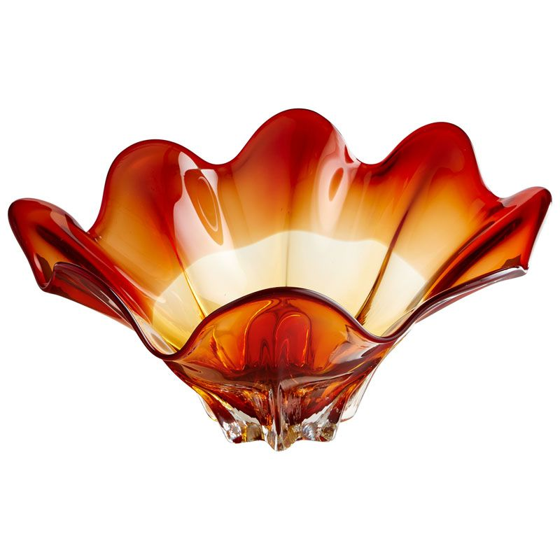 Cyan Design Large Lily Bowl Lily 21.5 Inch Diameter Glass Decorative