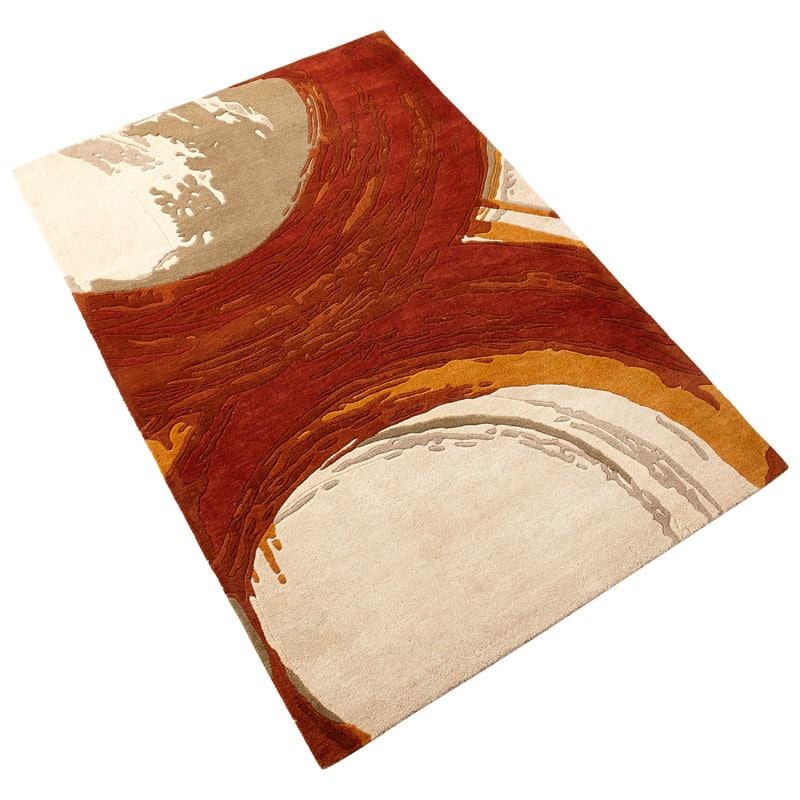 Cyan Design Orange Percival Rug Orange Percival Polyester Rug Made in