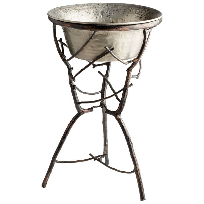 Cyan Design Silver Sprig Planter Silver Sprig 31 Inch Tall Aluminum Sale $682.50 ITEM#: 2869008 MODEL# :6954 UPC#: 190808010292 :