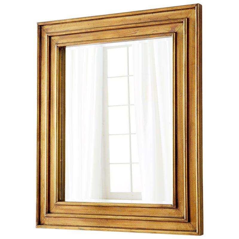 Cyan Design Auric Mirror 46.25 x 40.25 Auric Square Wood Frame Mirror