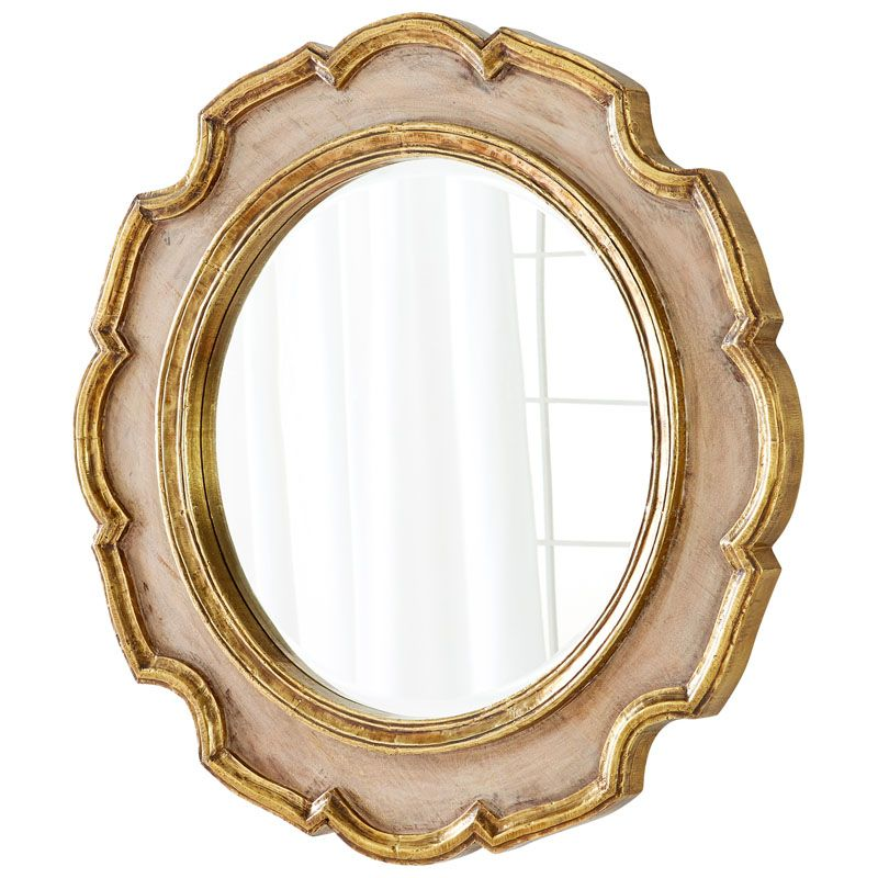 Cyan Design Antonin Mirror 7 Inch Diameter Antonin Wood Mirror Made in