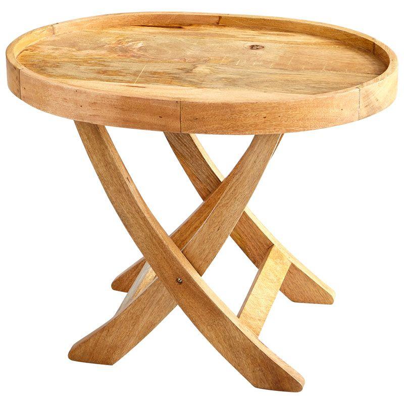 Cyan Design Short Rustica Tray Table Rustica 30 Inch Long Wood Tray
