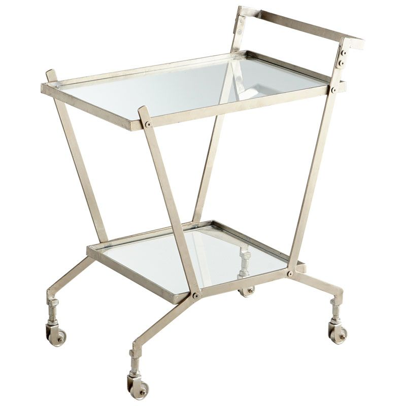 Cyan Design Carrello Bar Cart Carrello 32.25 Inch Tall Iron and Glass