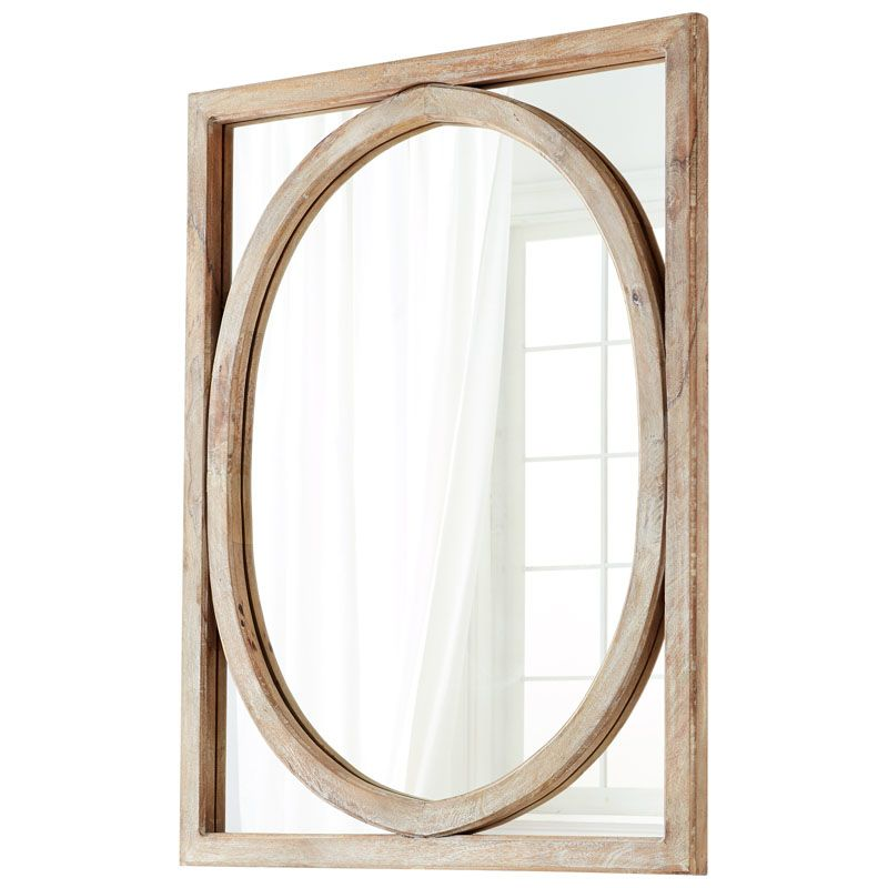 Cyan Design Revolo Mirror 49 x 37 Revolo Rectangular Wood Frame Mirror