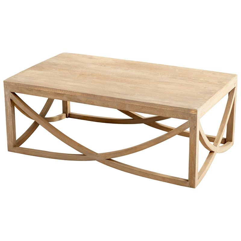 Cyan Design Lancet Arch Coffee Table Lancet 47 Inch Long Wood Coffee