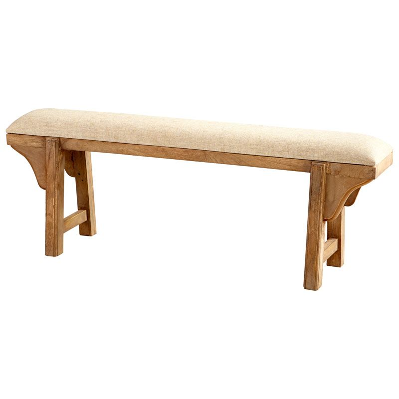 Cyan Design Gable Bench Gable 20 Inch Tall Wood Bench Made in India