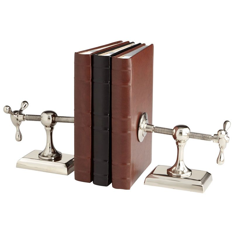 Cyan Design Hot & Cold Bookends 8 Inch Tall Hot and Cold Bookends