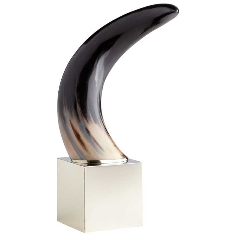 Cyan Design Cornet Sculpture Cornet 22 Inch Tall Stainless Steel and