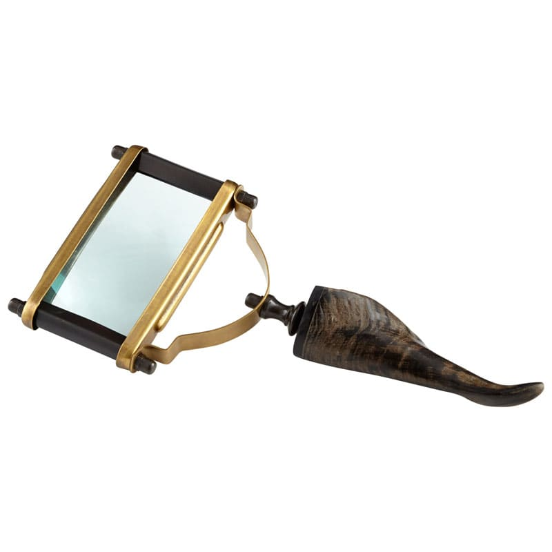 Cyan Design Enfoque Magnifier Enfoque 11.25 Inch Tall Brass Magnifier