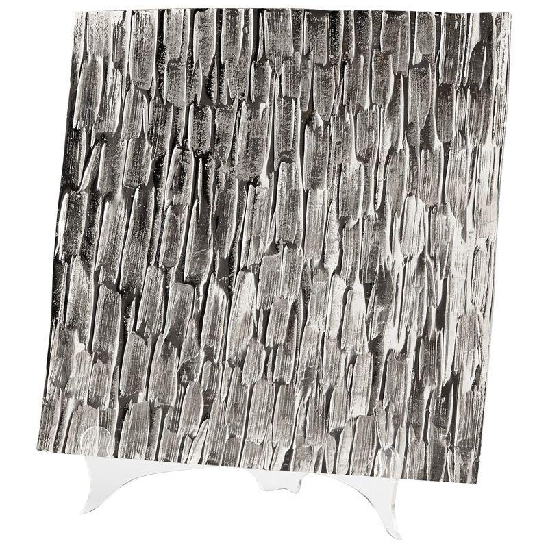 Cyan Design Large Cobblestone Tray Cobblestone 15 Inch Wide Aluminum