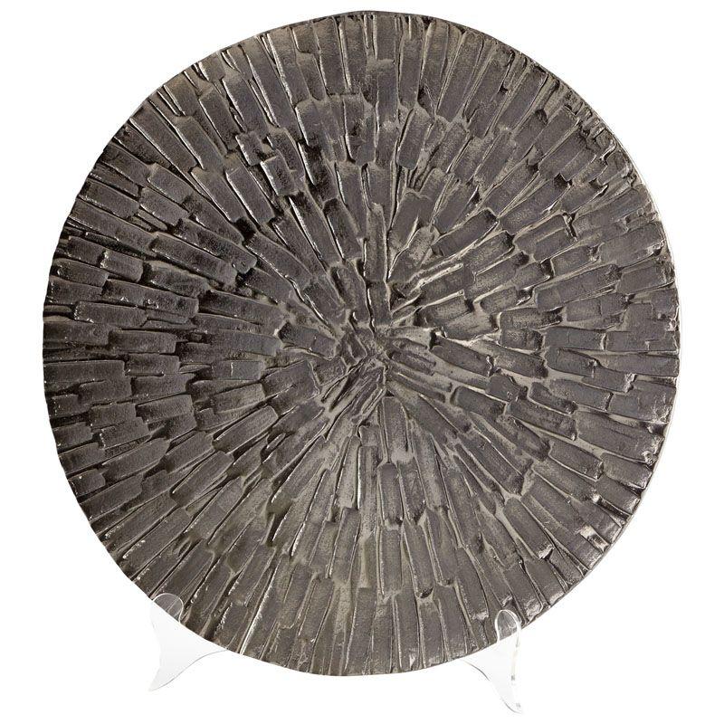 Cyan Design Large Flagstone Tray Flagstone 19.75 Inch Diameter