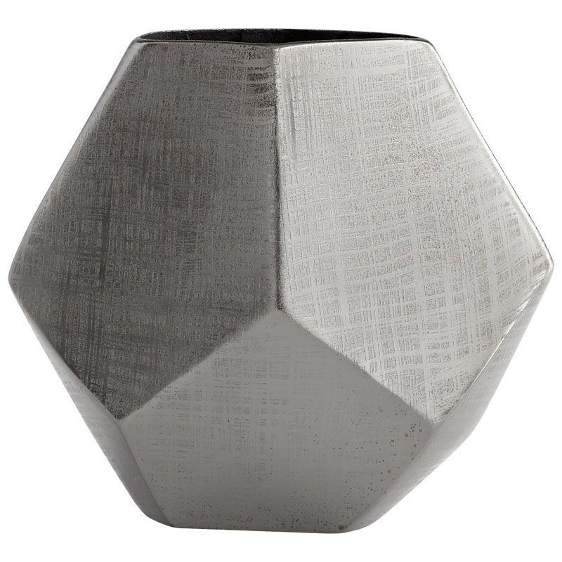 Cyan Design Large Vulcan Vase Vulcan 10 Inch Tall Aluminum Vase Made