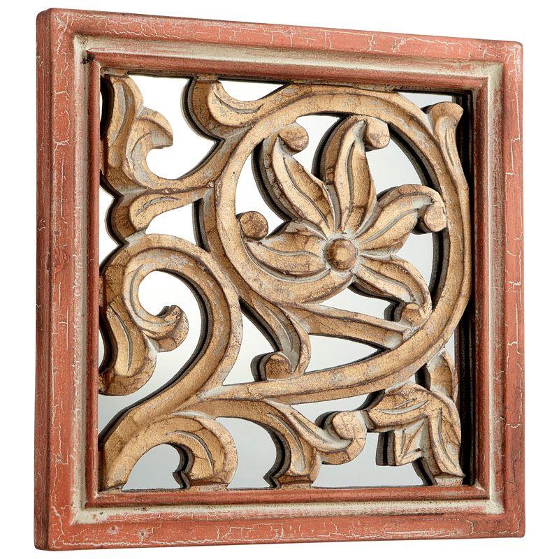 Cyan Design Vinum Mirror 10 x 10 Vinum Square Wood Frame Mirror Made