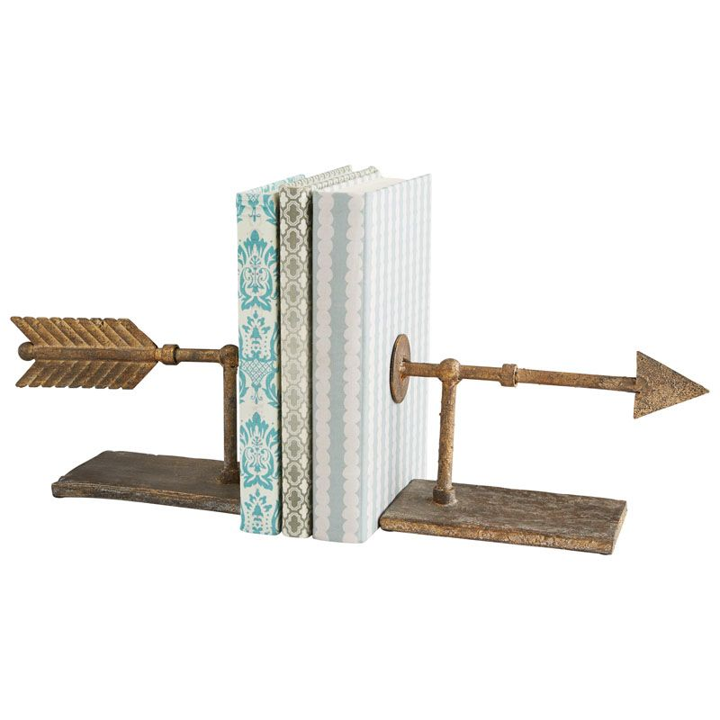 Cyan Design Archer Bookends 5.25 Inch Tall Archer Bookends Rustic Home