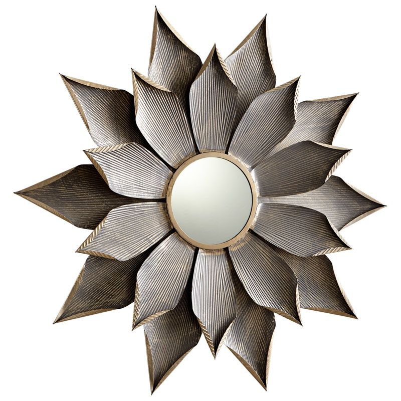Cyan Design Small Blossom Mirror 7 Inch Diameter Blossom Iron Mirror